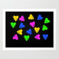 Scribbled Hearts Art Print
