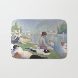 Bathers in Asnieres by Georges Seurat, 1884 Bath Mat