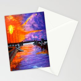 Sunset Harbor Stationery Cards
