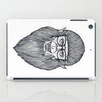 teen wolf iPad Cases featuring Nerdy Teen Wolf by Peter Kramar