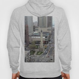 Chicago Water Tower Tilt Shift Color Photograph Hoody