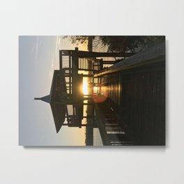 As the sun sets. Metal Print