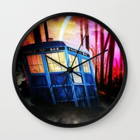 dr who Wall Clocks featuring dr who by shannon's art space