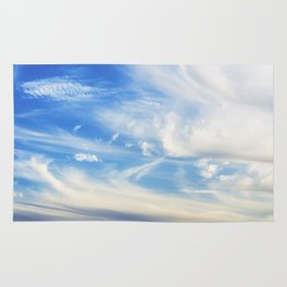 Clouds over Menton France in a summer day Rug