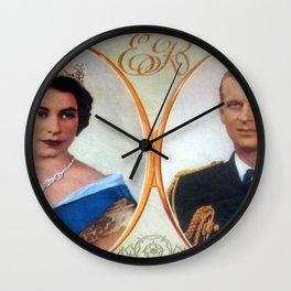 Queen Elizabeth 11 & Prince Philip in 1952 Wall Clock