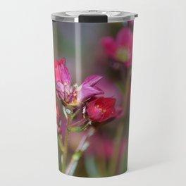 Pink Aubrieta Travel Mug