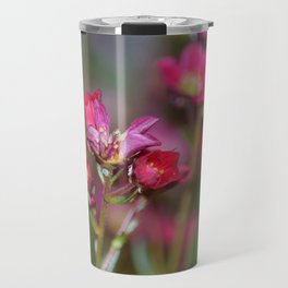 Pink Aubrieta Travel Mug
