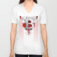 canada V-neck T-shirts featuring bitcoin Canada by seb mcnulty