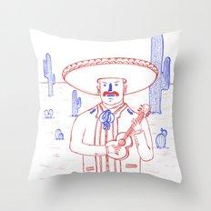 Mariachi in the Desert Throw Pillow
