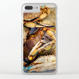 Blue Crabs Clear iPhone Case