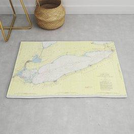 Vintage Map of Lake Erie (1955) Rug