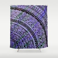 zentangle Shower Curtains featuring Zentangle by Doodle Frisson