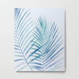 Coastal Palms Watercolor Metal Print