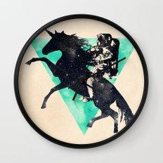 Ride the universe Wall Clock