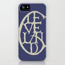 Vintage Cleveland Typography (Dark) iPhone Case
