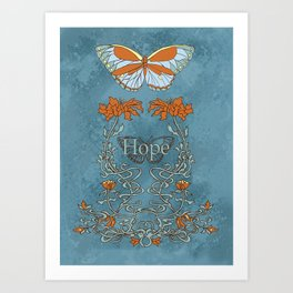 Butterfly Hope Art Print