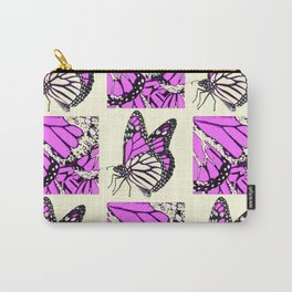 DECORATIVE FUCHSIA PINK BUTTERFLY IDENTIFICATION CHART Carry-All Pouch