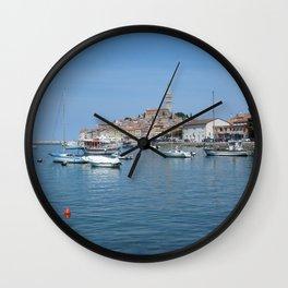 Rovinj Boats Wall Clock