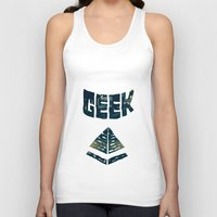 geek Tank Tops featuring GEEK by YTRKMR