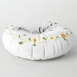 Be Still and know that i am god Floor Pillow