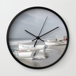 Beach Patrol Brigantine Wall Clock