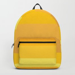 Afternoon Sun Rays - Golden Yellow Variable Stripe Pattern  Backpack
