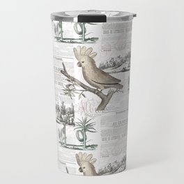 Paris Cockatoo Toile Travel Mug