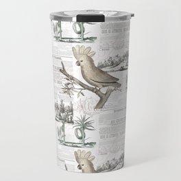 Paris Cockatoo Toile Travel Mug