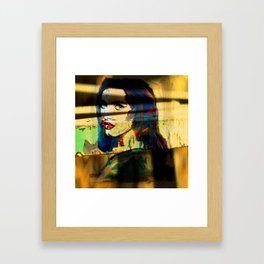 Painted Persephone On Rust Framed Art Print