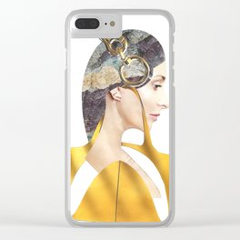 Love\Yellow Clear iPhone Case