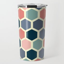 Colorful honeycomb design Travel Mug