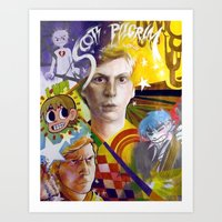 michael scott Art Prints featuring SCOTT PILGRIM VS. MICHAEL CERA by spatsula