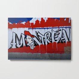 Graffiti in Montreal, #canada Metal Print