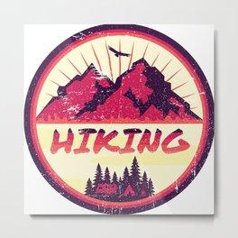 Hiking Nature Camping Metal Print