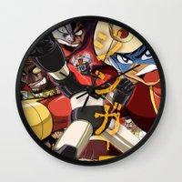 manga Wall Clocks featuring Manga 07 by Zuno