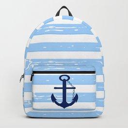AFE Nautical Blue Ship Anchor Backpack