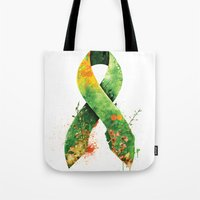 stickers Tote Bags featuring Nature Ribbon by ErDavid