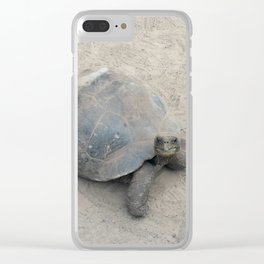 Tortoise on the Galapagos Clear iPhone Case