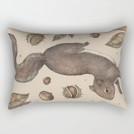 The Squirrel and Chestnuts Rectangular Pillow