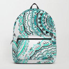 Supernova-In Teal, Aqua, & Mint Backpack