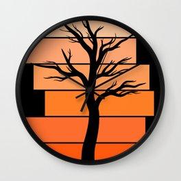 Tree Silhouette (Desert Sky) Wall Clock