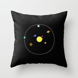 Solar System - Minimalism Abstract Pastel Colours Throw Pillow