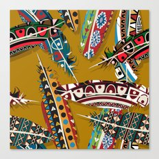 Boho Feather Pattern 1 Canvas Print
