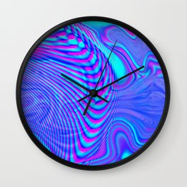 GLITCH MOTION WATERCOLOR OIL Wall Clock