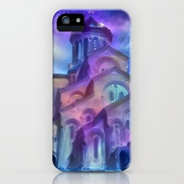 Violet Sky Cathedral of Tbilisi iPhone Case