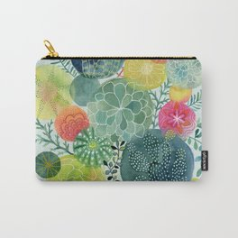 Succulent Circles Carry-All Pouch