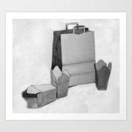 Bag & Box Art Print