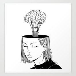Free Thought Art Print