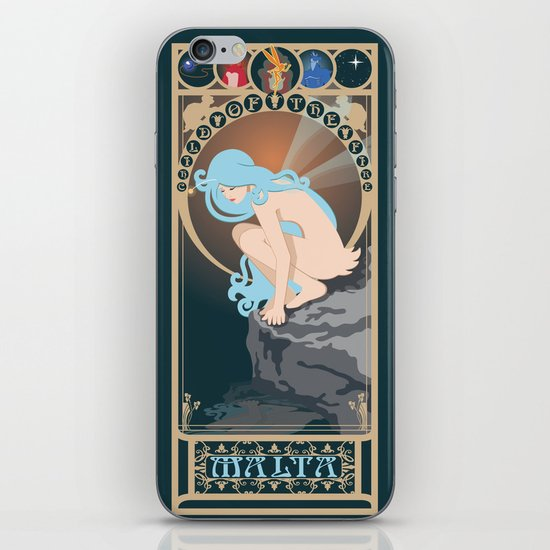 Malta Nouveau -  Sea Prince and the Fire Child iPhone & iPod Skin