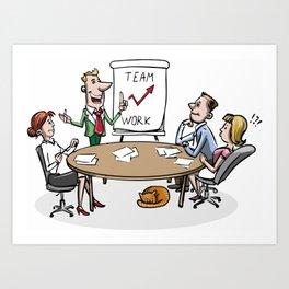 Business Meeting. Art Print